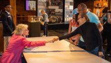 Ruth Graham Meets Visitors at Billy Graham Library Book Signing