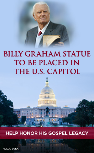 Donate towards the Billy Graham Statue that will be placed in the U.S. Capitol