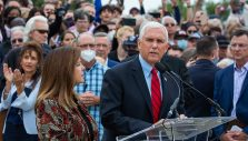 VP Pence Surprises Prayer March to Say 'Thank You'