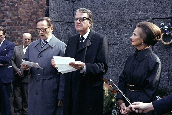 Billy Graham at Auschwitz concentration camp