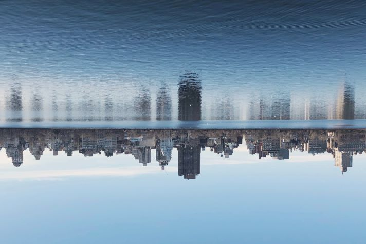 reflection of city