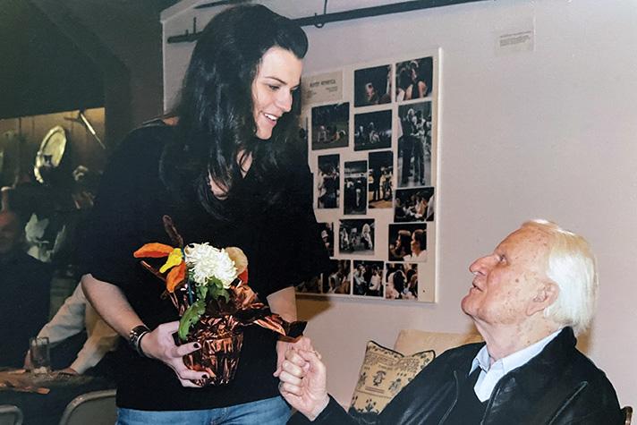 Cissie Graham Lynch with Billy Graham