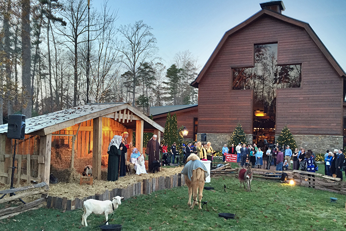 Live nativity at the Billy Graham Library