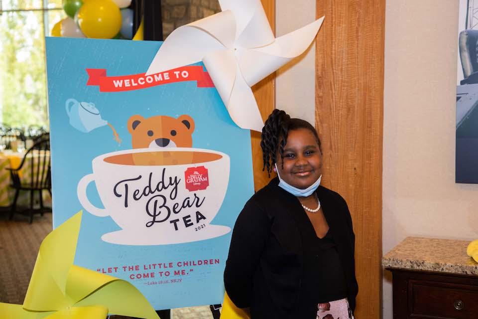 young girl at Teddy Bear Tea