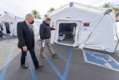 Franklin Graham Encourages Chaplains at COVID Field Hospital in California