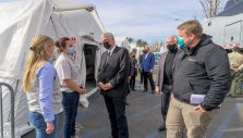 Franklin Graham Encourages Staff, Volunteers at COVID Field Hospital