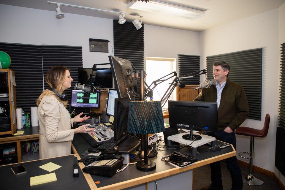 Will Graham talking to radio host