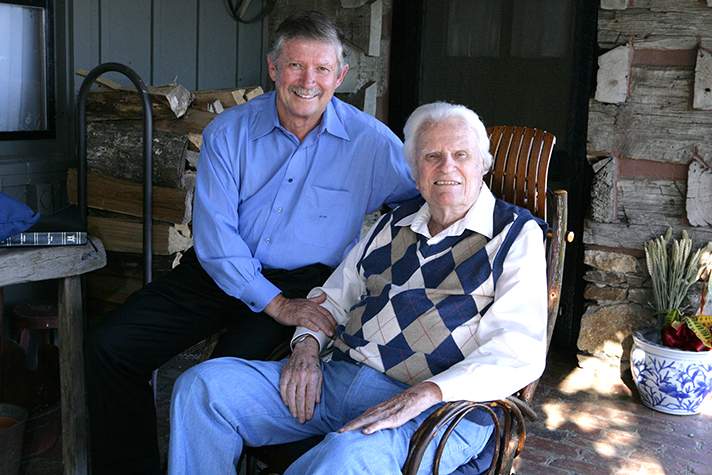 Billy Graham with Pastor Don Wilton