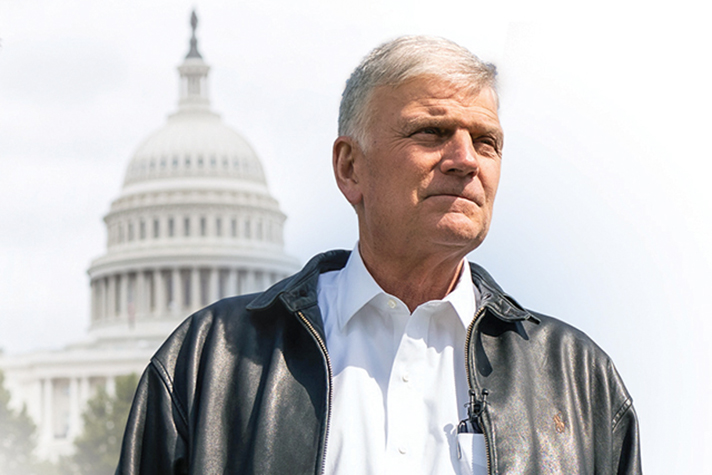Franklin Graham in front of U.S. Capitol