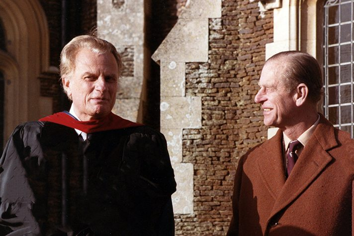 Billy Graham and Prince Philip