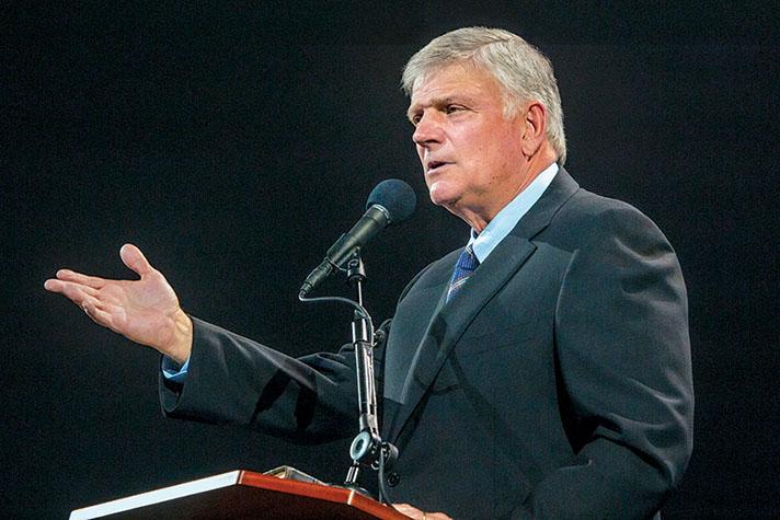 Franklin Graham preaching