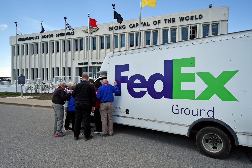 Chaplains lay their hands on FedEx truck after shooting and pray with driver
