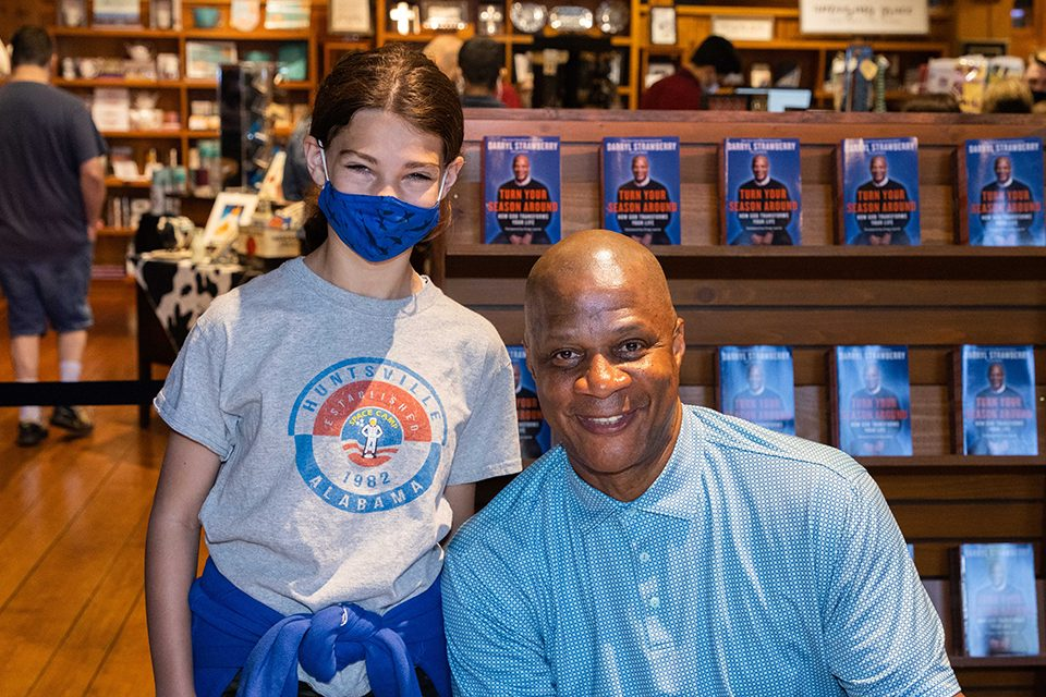 Darryl Strawberry with girl