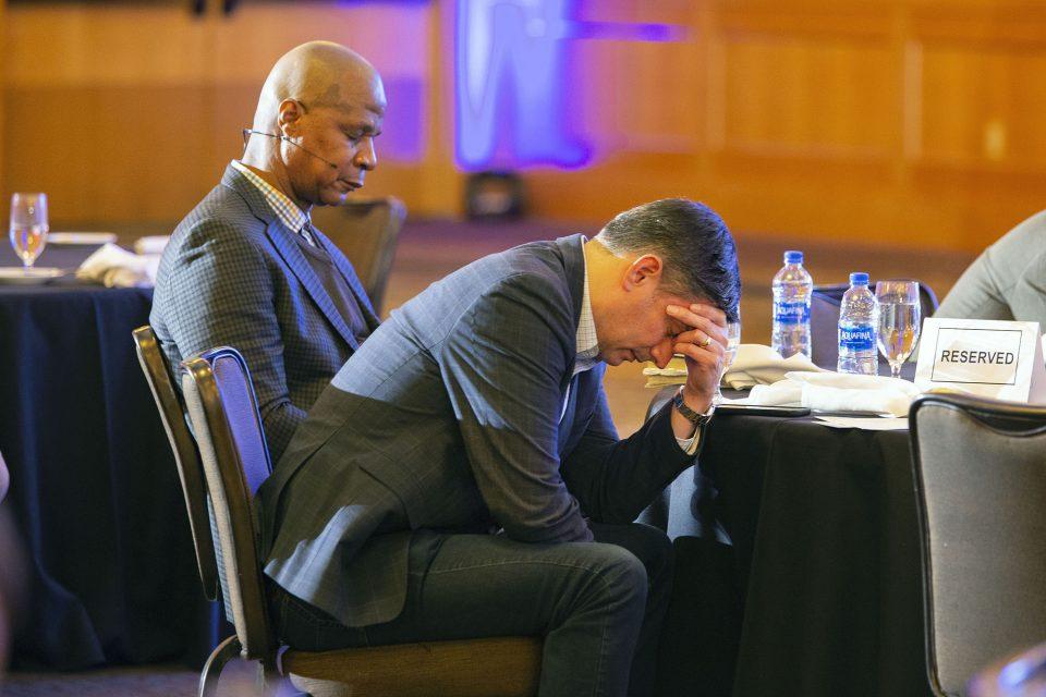 Darryl Strawberry and Will Graham praying