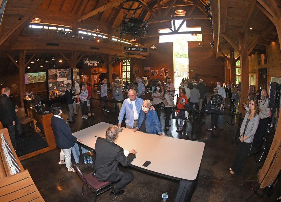 Wideshot of book signing at Billy Graham Library