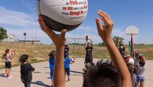 Kids Learn About Jesus & Basketball at Will Graham Event