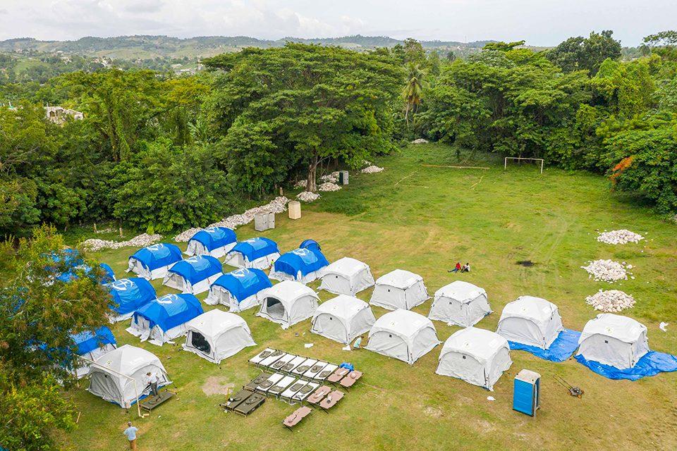 Samaritan's Purse Emergency Field Hospital in Haiti