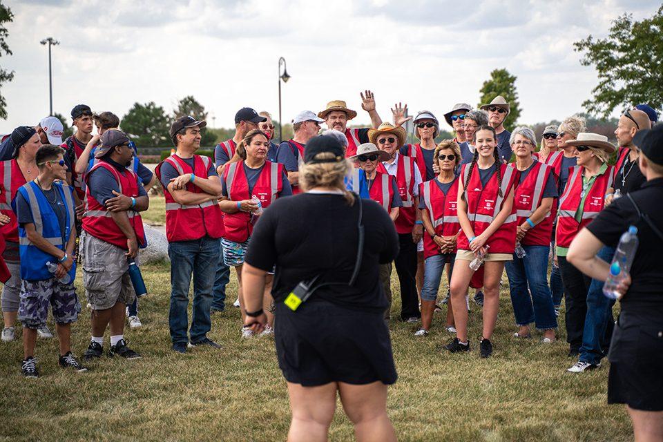 God Loves You Tour volunteers