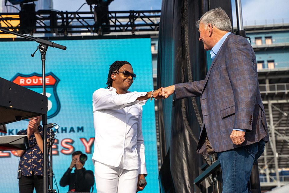 Michael Tait and Franklin Graham