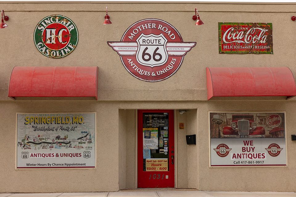 Route 66 storefront