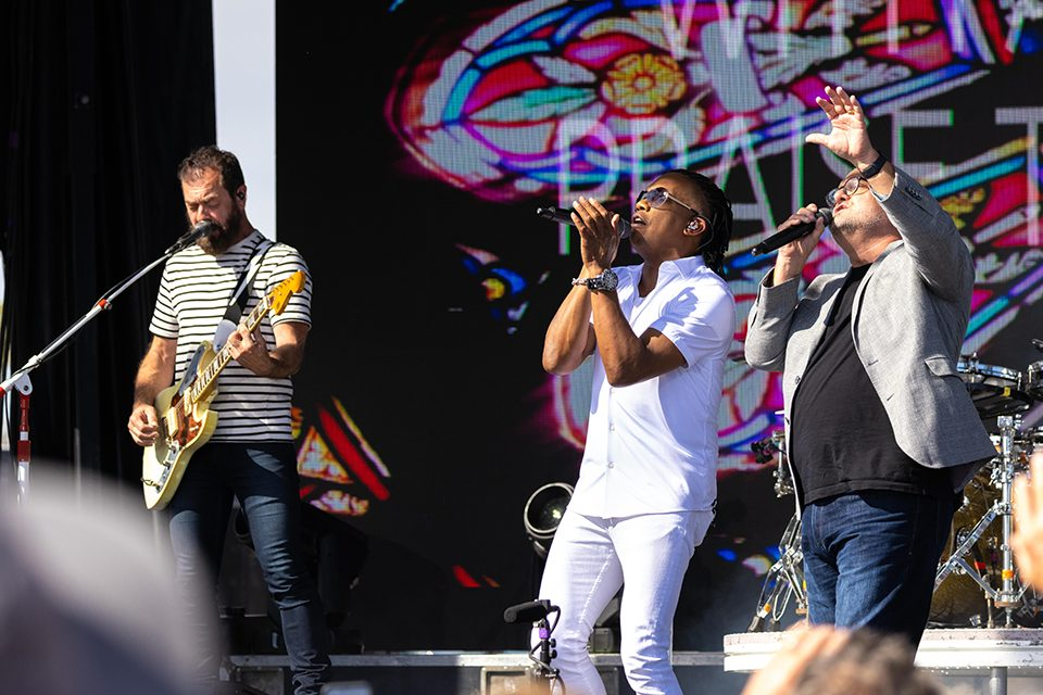 Newsboys and Marcos Wit on stage