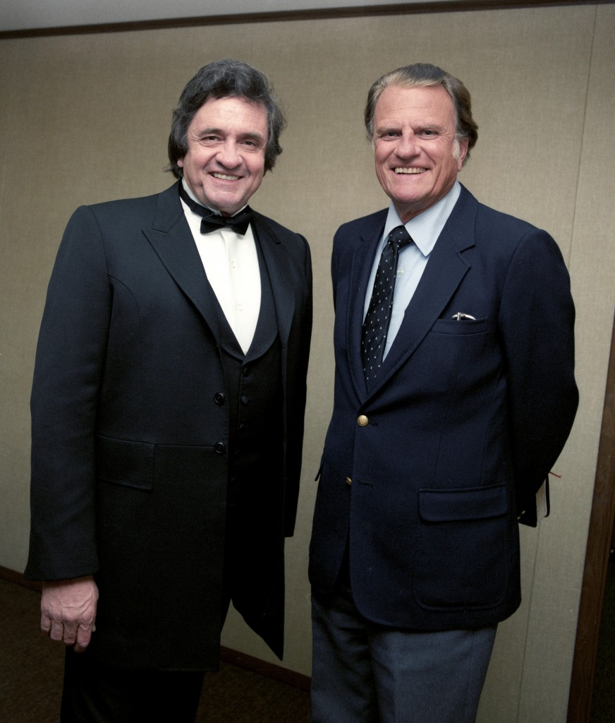 Johnny Cash and Billy Graham