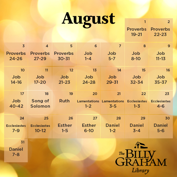 2014 August Bible Reading