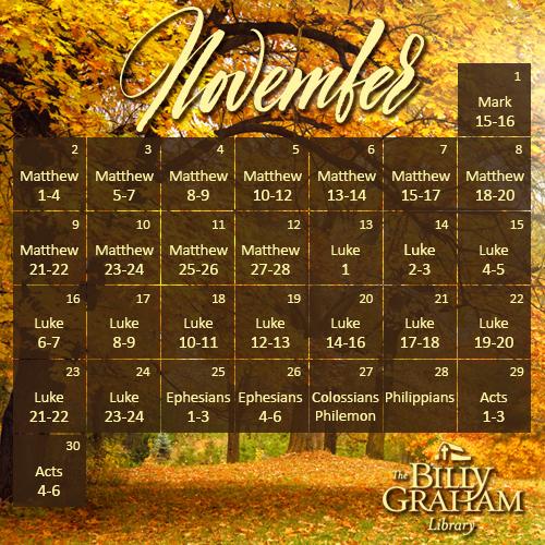 2014 November Bible Reading