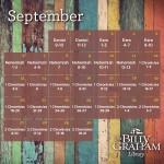 2015 September Bible Reading Plan