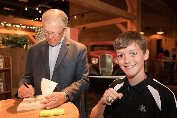 Joe Gibbs Book Signing at the BG Library