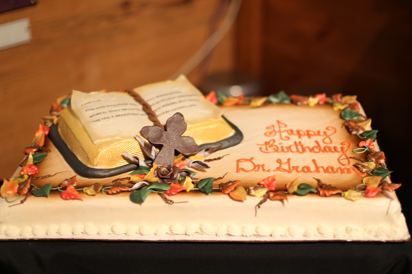 Mr Grahams Birthday Cake Shared With Guests The Bible On Displays John 316