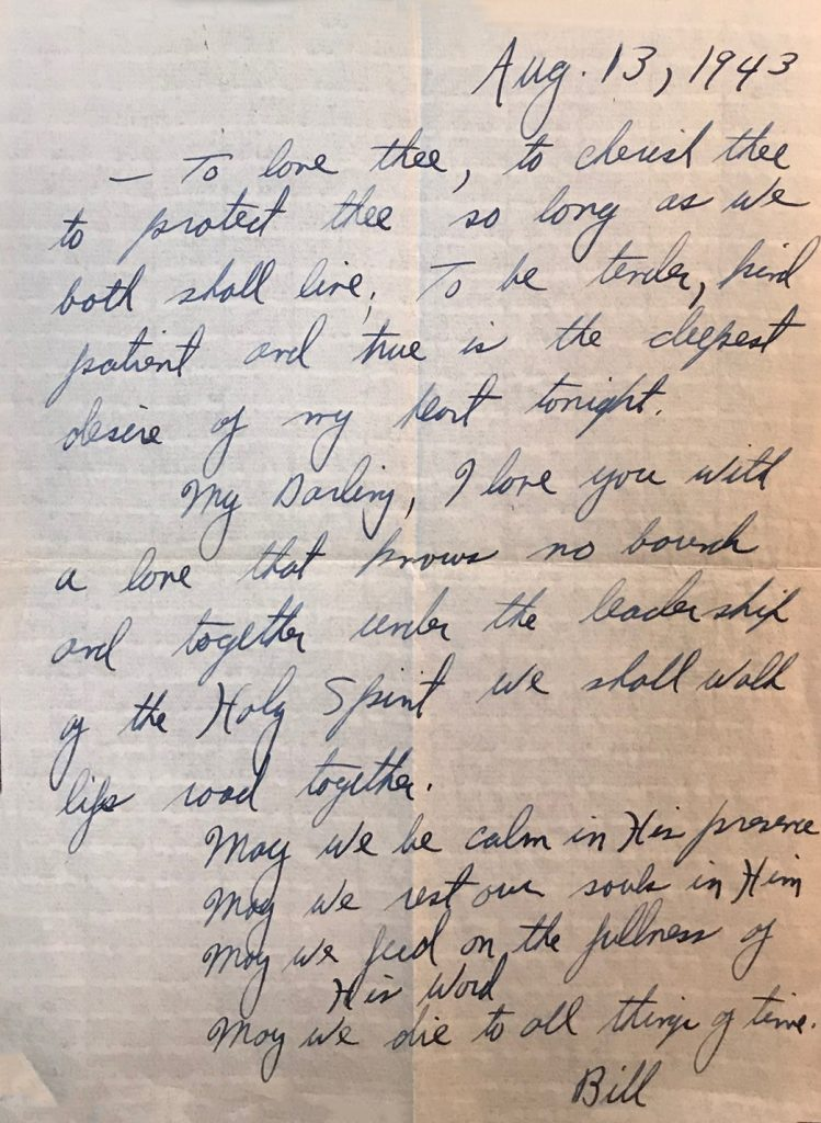 Wedding Day Letter From Billy To Ruth The Billy Graham Library Blog