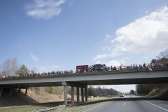 """Feb. 24, 2018: During thetransportation of Billy Graham's casketfrom Asheville to Charlotte, Franklin Graham notes, """"The outpouring of love we are seeing…is overwhelming….We are so incredibly touched. My father would be humbled and honored. He would want all the glory to go to God. Thank you from the bottom of our hearts."""""""