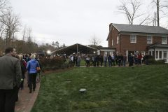 Feb. 26, 2018: Members of the public visit the Billy Graham Library in Charlotte, North Carolina, to honor Billy Graham as his body lies in repose at the Graham Family Homeplace.