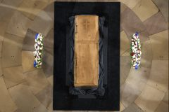 Feb. 28, 2018: The body of Billy Graham lies in honor in the U.S. Capitol Rotunda. Graham is only the fourth private citizen—and the first religious leader—to be given this distinction.