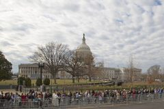 Feb. 28, 2018: People line up outside for the opportunity to pass by the casket of Billy Graham as his body lies in honor in the U.S. Capitol Rotunda. Graham is only the fourth private citizen—and the first religious leader—to be given this distinction.