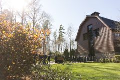 March 2, 2018: Following the funeral service for Billy Graham, a private ceremony and interment is held at the foot of the cross-shaped Prayer Garden on the northeast side of the Billy Graham Library.