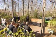 """March 2, 2018: Following the funeral service for Billy Graham, a private ceremony and interment is held at the foot of the cross-shaped Prayer Garden on the northeast side of the Billy Graham Library. (L-R, speakers Sami Dagher, Donald J. Wilton and David Bruce; see """"Private Family Interment Official Program"""")"""