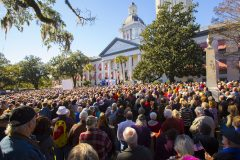 Tallahassee, Fla.: Stop #2 – Some 3,500 Florida residents gathered on the steps of the historic capitol in Tallahassee on Jan. 12, 2016, as part of the Decision America Tour.