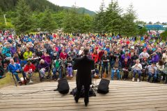 Juneau, Alaska: Stop #32—Some 750 Alaskans gathered at Savikko Park in Juneau on July 1, 2016, as part of the Decision America Tour.