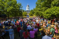 Augusta, Maine: Stop #36—Some 3,200 Maine citizens gathered at the Legislature's Capitol Park in Augusta on Aug. 23, 2016, as part of the Decision America Tour.