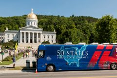 Montpelier, Vermont: Stop #37—Some 1,800 Vermont citizens gathered at the State House Front Steps in Montpelier on Aug. 24, 2016, as part of the Decision America Tour.