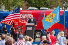 Dover, Delaware: Stop #42—Some 2,600 Delaware citizens gathered at the State House Front Steps in Dover on Sept. 13, 2016, as part of the Decision America Tour.