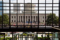 Indianapolis: Stop #46—Some 8,400 Indianans gathered at the Capitol South Lawn in Indianapolis on Oct. 5, 2016, as part of the Decision America Tour.
