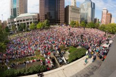 Columbus, Ohio: Stop #47—Some 7,900 Ohioans gathered at the Capitol West Plaza in Columbus on Oct. 6, 2016, as part of the Decision America Tour.