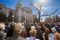 Denver, Colo.: Stop #8 – Some 4,200 Colorado residents gathered at the capitol's west steps in Denver on March 15, 2016, as part of the Decision America Tour.