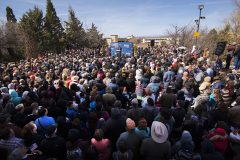 Santa Fe, N.M.: Stop #9 – Some 2,500 New Mexico residents gathered at the capitol's west concourse in Santa Fe on March 16, 2016, as part of the Decision America Tour.