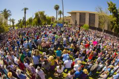 Phoenix, Ariz.: Stop #10 – Some 6,700 Arizona residents gathered at the House of Representatives Lawn in Phoenix on March 18, 2016, as part of the Decision America Tour.