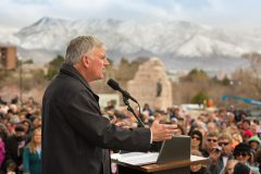 Salt Lake City, Utah: Stop #11 – Some 1,400 Utah residents gathered at the capitol's south steps in Salt Lake City on March 29, 2016, as part of the Decision America Tour.