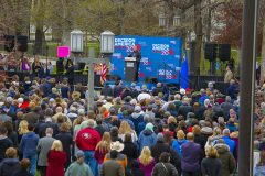 Carson City, Nev.: Stop #12 – Some 2,800 Nevada residents gathered at the Capitol Amphitheater in Carson City on March 30, 2016, as part of the Decision America Tour.